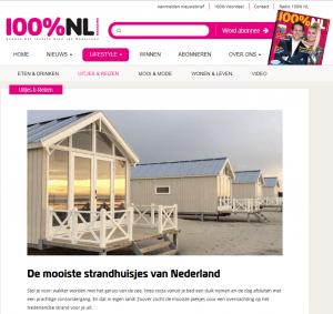 100%NL mooiste strandhuisjes