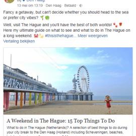 Outdoor blogger Paulina on the Road trekt sportief door Den Haag